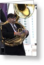 The Tuba Player Greeting Card