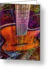 The Tuning Of Color Digital Guitar Art By Steven Langston Greeting Card