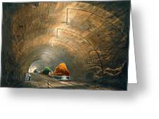 The Tunnel, From Coloured View Greeting Card