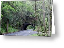 The Tunnel Greeting Card by Roger Potts