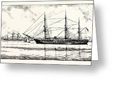 The Turkish Frigate Ertogrul Lost Off The Coast Of Japan Greeting Card