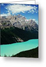 The Turquoise Colored Peyto Lake Greeting Card