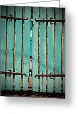 The Turquoise Gate Greeting Card