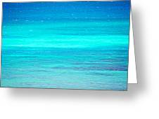 The Turquoise Sea Greeting Card