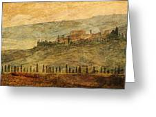The Tuscan Landscape Near Pienza Greeting Card