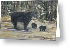 Cubs - Bears - Goldilocks And The Three Bears Greeting Card