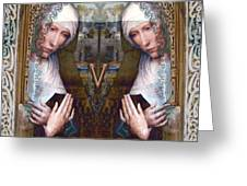 the two Marys at the Alhambra Greeting Card