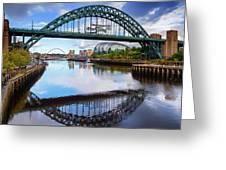 The Tyne Road Bridge With The Sage Greeting Card
