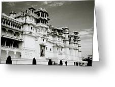 The Udaipur City Palace  Greeting Card