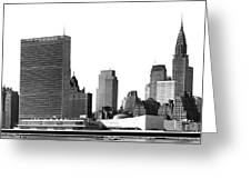 The Un And Chrysler Buildings Greeting Card