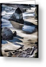 The Unexplored Beach Painted Greeting Card