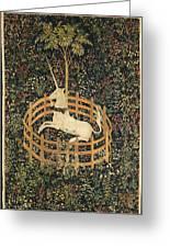 The Unicorn In Captivity Greeting Card