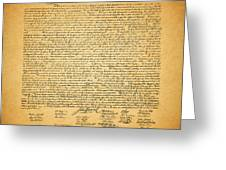 The United States Declaration Of Independence - Square Greeting Card