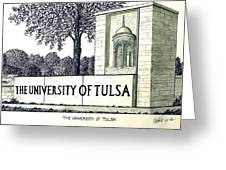 The University Of Tulsa Greeting Card