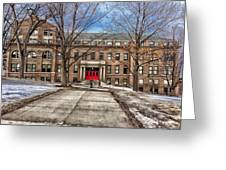 The University Of Wisconsin Education Building Greeting Card