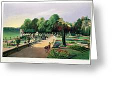 The Upper And Lower Terrace Gardens Greeting Card
