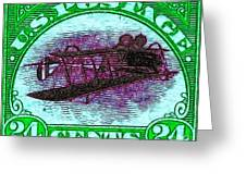 The Upside Down Biplane Stamp - 20130119 - V4 Greeting Card