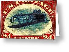 The Upside Down Biplane Stamp - 20130119 Greeting Card