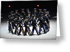 The U.s. Army Drill Team Performs Greeting Card