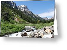 The Valley Beyond Greeting Card