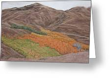 The Valley Of Color Greeting Card