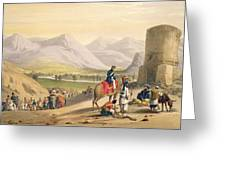 The Valley Of Maidan, From Sketches Greeting Card