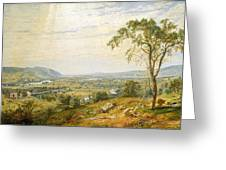 The Valley Of Wyoming Greeting Card
