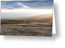 The Valleys In Wicklow Ireland Greeting Card