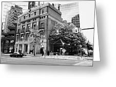 the vancouver club building west hastings street heritage district Vancouver BC Canada Greeting Card by Joe Fox