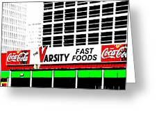 The Varsity Atlanta Pop Art Greeting Card