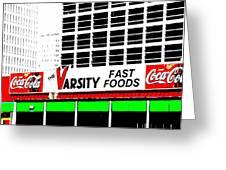 The Varsity Atlanta Pop Art Greeting Card