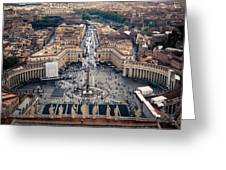 The Vatican St. Peter's Square Greeting Card
