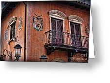 The Venetian Balcony Greeting Card