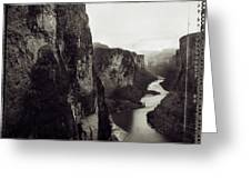 The View Downstream From The Eminence Greeting Card