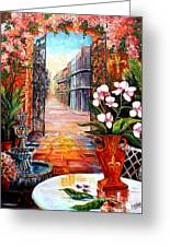 The View From A Courtyard Greeting Card