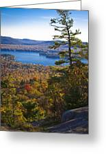 The View From Bald Mountain - Old Forge New York Greeting Card