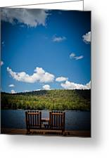 The View From Big Moose Inn Greeting Card