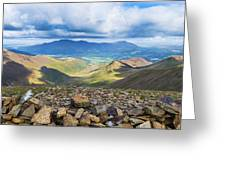 Keswick And Derwent Water From Crag Hill Greeting Card