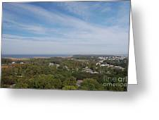 The View From The Top Of Currituck Beach Lighthouse  Greeting Card