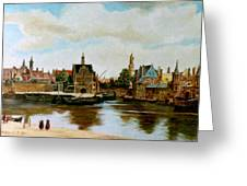The View Of Delft Greeting Card