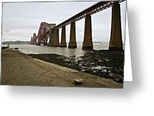 The View Of The Forth Bridge Greeting Card