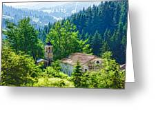 The Village Church - Impressions Of Mountains And Forests Greeting Card