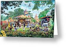 The Village Fayre  Greeting Card