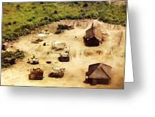 The Village In Africa Greeting Card
