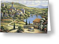 The Village Greeting Card by John Zaccheo