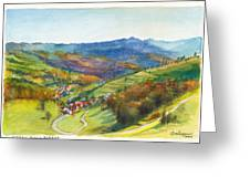 The Village Of Wieden In The Black Forest Greeting Card