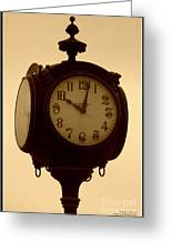 The Vintage Town Clock Greeting Card