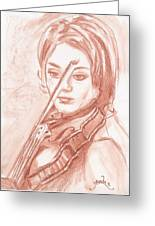 The Violinist Greeting Card