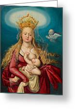 The Virgin As Queen Of Heaven Suckling The Infant Christ Greeting Card