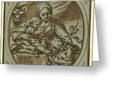 The Virgin, Child Greeting Card